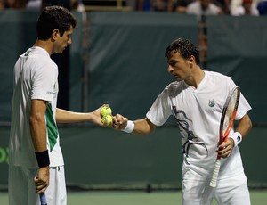 Marcelo Melo e Ivan Dodig primeira rodada masters de miami (Foto: AFP)