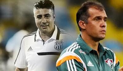 Gallo e Eduardo Baptista, Ponte Preta (Foto: Editoria de Arte GloboEsporte.com)