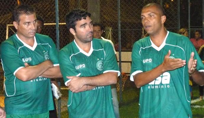 Luizão, Deco e Amoroso showbol Guarani (Foto: Warley Menezes / Guarani FC)