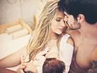Rodrigão se declara para Adriana Sant'Anna e o filho: 'Amo vocês'