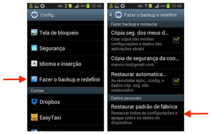 77b129f8bf Iniciando a ferramenta do Android para levar o Galaxy Gran Duos as  configurações de fábrica (