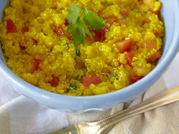 Risoto de quinoa com tomate e aafro (Foto: Divulgao/ Andr Bittencourt)