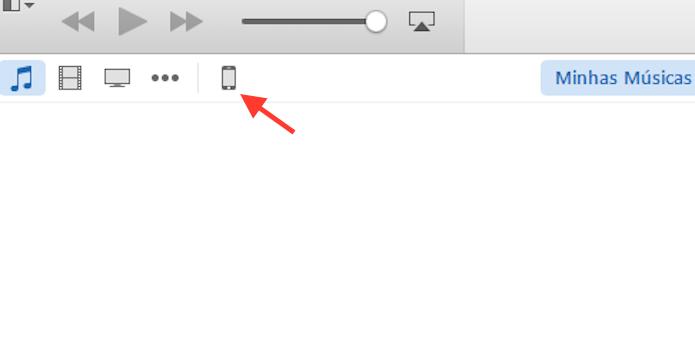 Acessando as configurações do iPhone através do iTunes no computador (Foto: Reprodução/Marvin Costa)