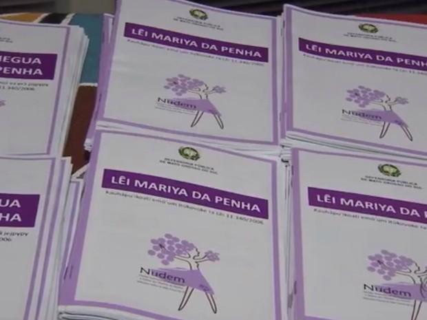 Violência contra índias cresce e MS traduz cartilha sobre Maria da Penha (Foto: Reprodução/ TV Morena)