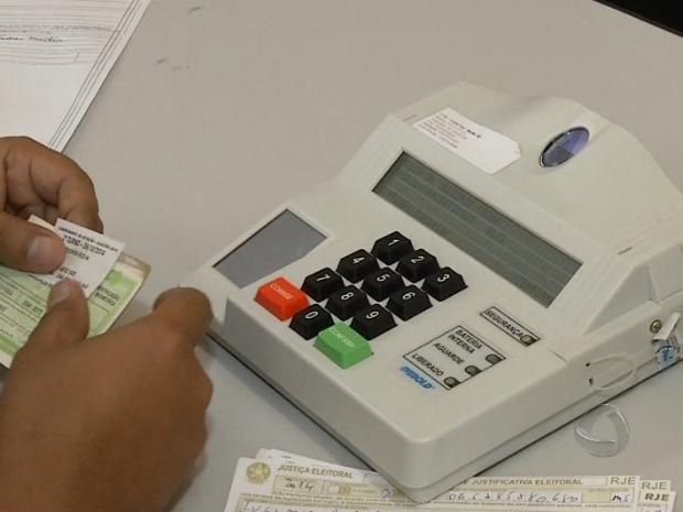 Oito municípios de MS tiveram voto biométrico (Foto: Reprodução/TV Morena)