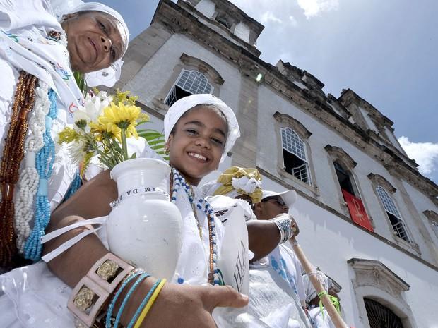 Lavagem do Bonfim, em Salvador (Foto: Max Haack/Ag. Haack)