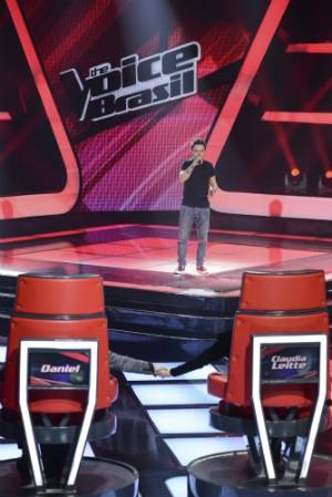 Rubens na fase de audições do The Voice (Foto: Globo/Raphael Dias)