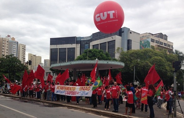praça cívica, Goiânia, Goiás, manifestação, cut, protesto