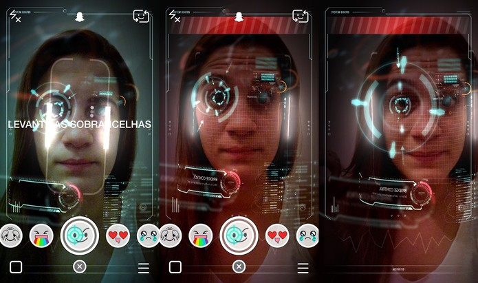 O efeito tecnológico te coloca em um ambiente de filme de ficção científica (Foto: Reprodução/Juliana Pixinine)