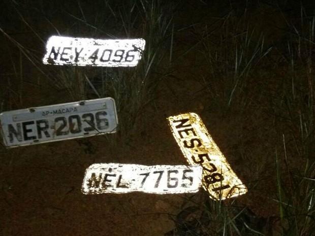 placa de veículos, furto, roubo, macapá, amapá (Foto: divulgação/BPRE)