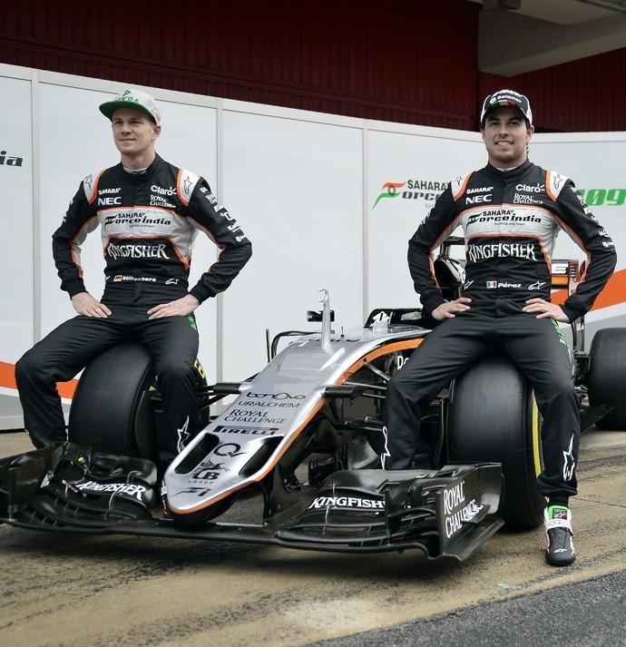 Nico Hulkenberg e Sergio Pérez, dupla da Force India em 2016 (Foto: AFP)