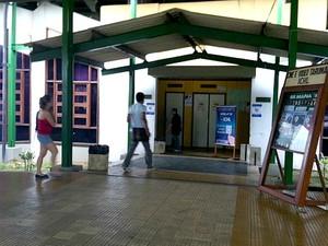 Posto de votação teve baixa procura no Instituto de Ciências Humanas e Letras (Foto: Girlene Girlene/G1AM)