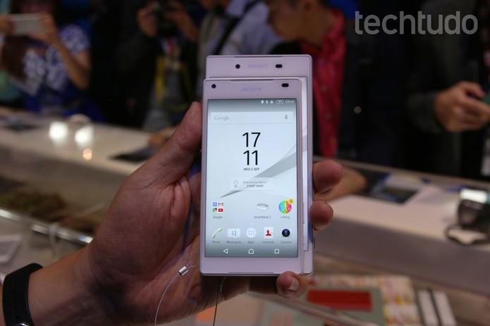 Sony apresentou seus novos smartphones da linha Xperia durante a IFA 2015 (Foto: Fabricio Vitorino/TechTudo)