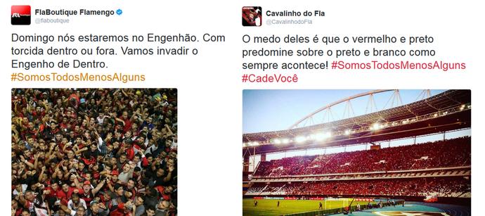 Torcedores do Flamengo prometem comparecer a Nilton Santos - Engenhão (Foto: Reprodução)