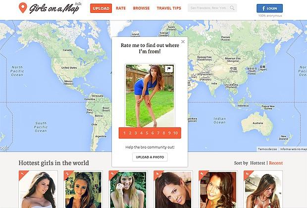 GIRLS ON A MAP, O SITE POLÊMICO QUE TARTA MULHERES COMO ATRAÇÕES TURÍSTICAS (Foto: Reprodução)