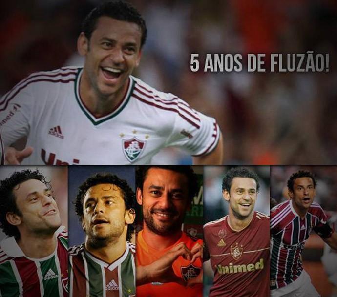 Fred comemora 5 anos no Fluminense (Foto: Reprodução / Facebook)