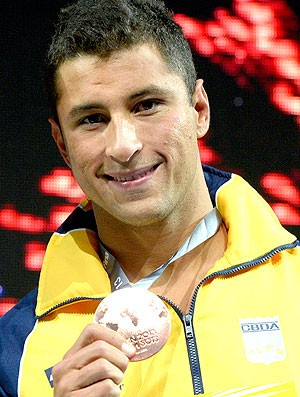 Felipe Lima natação Mundial Barcelona medalha bronze (Foto: AFP)