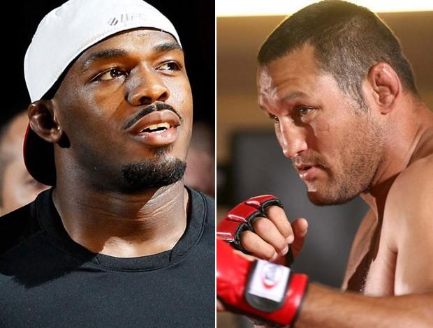 Jon Jones e Dan Henderson UFC MMA (Foto: Editoria de Arte / Globoesporte.com)
