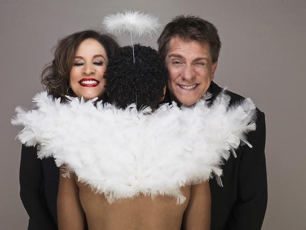 Luis Salém e Stella Miranda estrelam a peça 'Gozados' no Teatro Brasil 21 Cultural, em Brasília (Foto: Nana Moraes / Divulgação )