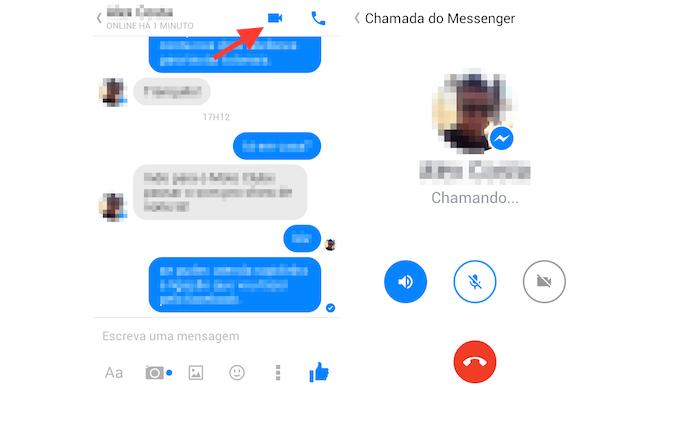 Mensageiro do Facebook realiza videochamadas (Foto: Reprodução/Marvin Costa)