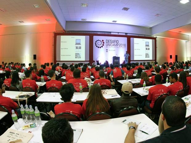 Participantes durante Desafio de Inovação Tecnológica da Unicamp, em 2016 (Foto: Thomaz Marostegan)