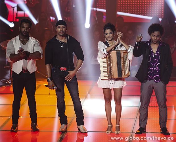 Angelo e Ângel Lucy Alves Heverton Castro (Foto: Fabiano Battaglin/TV Globo)