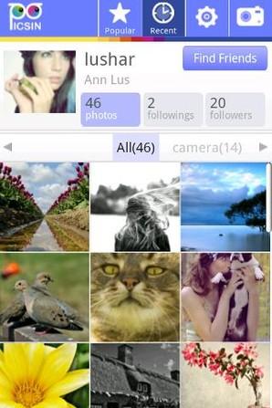 PicsIn Foto, editor de imagem para Android