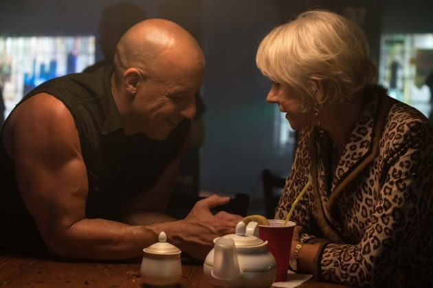 Vin Diesel e Helen Mirren em Velozes e Furiosos 8 (Foto: Divulgação)