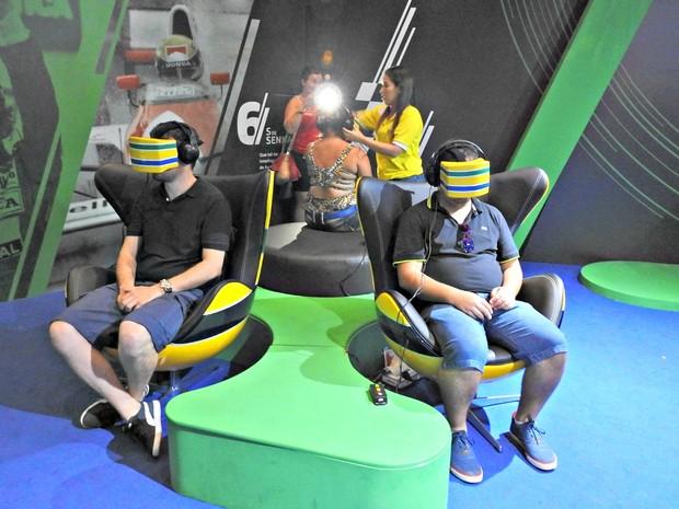 Visitantes poderão mergulhar numa viagem repleta de experiências multissensoriais em carro de Fórmula 1 (Foto: Adneison Severiano/G1 AM)
