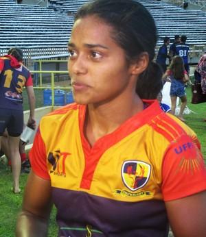 Patrícia Carvalho, jogadora de rúgbi (Foto: Josiel Martins )