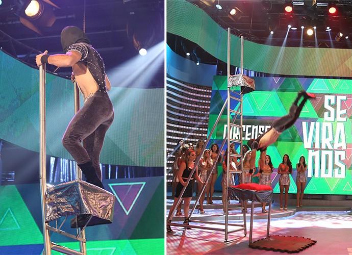 Jermany Maciel faz um espetáculo no Domingão (Foto: Carol Caminha)
