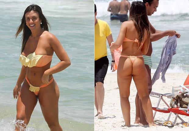Nicole Bahls: novo corpo, sem medo de ser feliz (Foto: Ag. News e Foto Rio News)