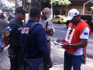Motorista foi surpreendido na Avenida Rio Branco (Foto: Cristiane Cardoso/G1)