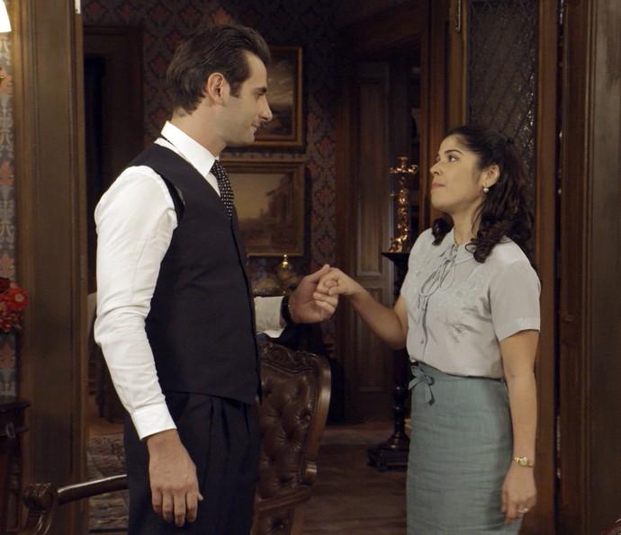 Araújo e Olga se declaram (Foto: TV Globo)