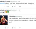 "Podolski recebe ""feliz aniversário"" do Fla, agradece e pede nova camisa"