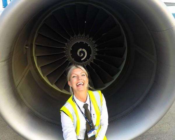 A pilota sueca Maria Pettersson, de 32 anos (Foto: Reprodução/Instagram)