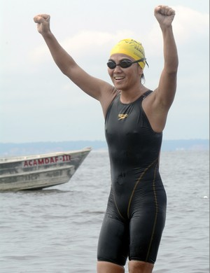 Ylse Sasai maratona aquática manasu (Foto: Antônio Lima/Sejel)