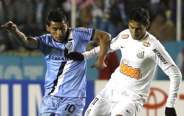Rudy Cardozo Bolívar e Ganso Santos (Foto: EFE)