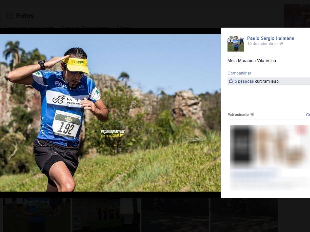 Paulo Sergio Humann sumiu no sábado (7), enquanto treinava na represa de Alagados (Foto: Reprodução/Facebook)