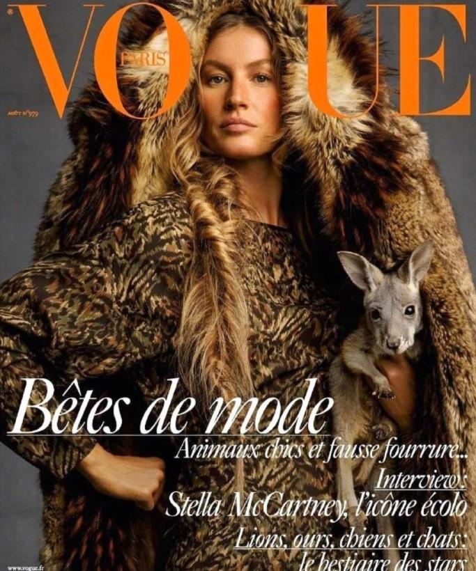Gisele Bündchen estrela capa da Vogue Paris (Foto: Reprodução/Instagram)