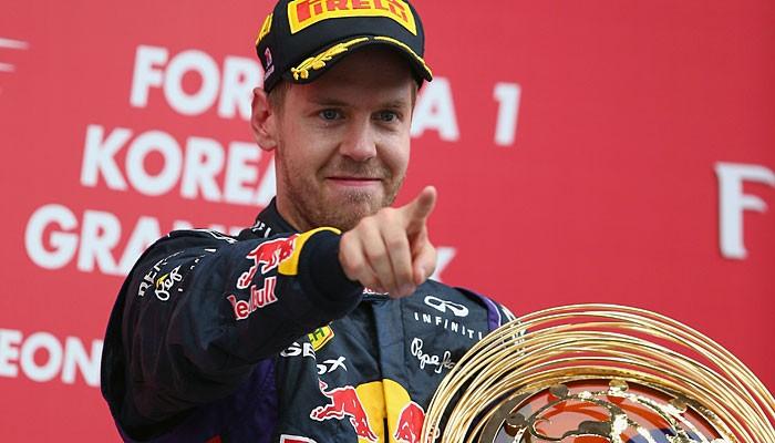 Sebastian Vettel vence o GP da Coreia do Sul