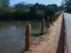 Problemas em estrutura ameaçam ponte que liga Guatapará a Rincão