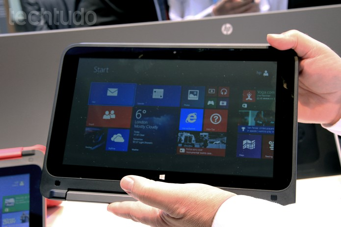 HP Pavilion x360 em formato de tablet (Foto: Isadora Díaz/TechTudo)