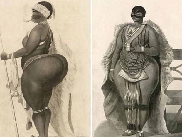Em outubro de 1810, Sarah Baartman foi levada da África do Sul à Grã-Bretanha para aparecer em espetáculos (Foto: SPL)