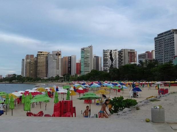 Praia de Fortaleza, únicda cidade do Ceará com ranking A em potencial turístico (Foto: Susy Costa/TV Verdes Mares)