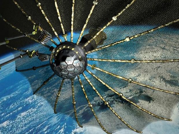 Pentágono investe em reciclagem espacial (Foto: DARPA/AP)
