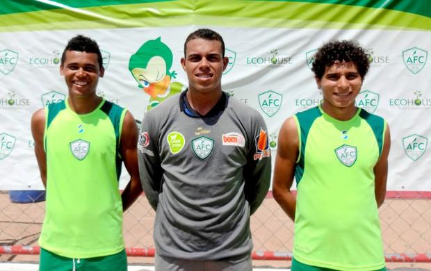 Careca, Gleibson e Paulinho são os novos contratados do Alecrim (Foto: Gabriel Peres/Divulgação)