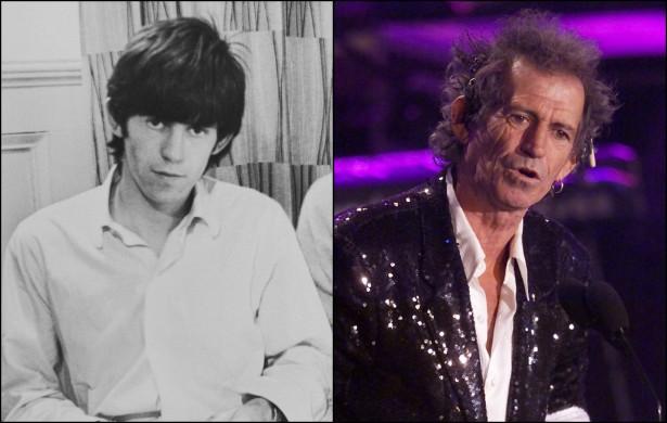 Tudo bem que a foto de Keith Richards à esquerda foi feita em 1963, há mais de meio século. Por isso, vamos fazer a comparação do guitarrista dos Rolling Stones com uma foto dele de 2001. É ou não uma mudança muito brusca? Na primeira foto, Richards tinha 19 anos. Na segunda, 57. (Foto: Getty Images)