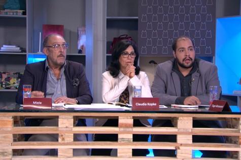 Miele, Claudia Kopke e Tiago Abravanel  (Foto: Divulgação)