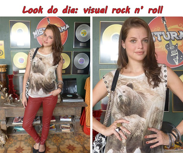 Dicas da Ju look do Dia rock (Foto: TV Globo/Malhação)